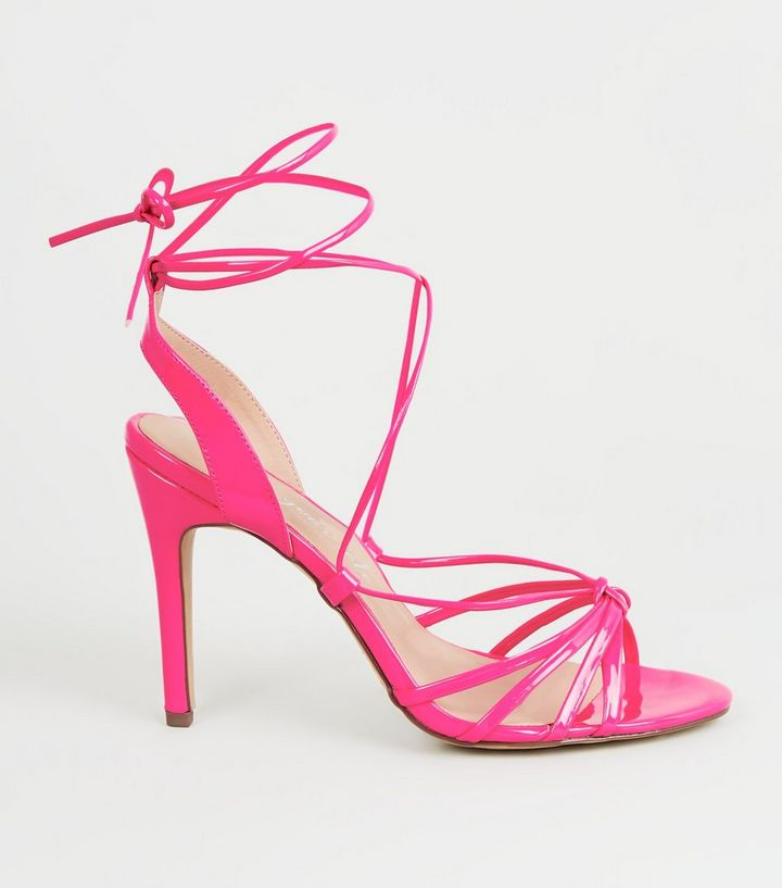 369bb8d13c9 Pink Patent Strappy Stiletto Heels Add to Saved Items Remove from Saved  Items