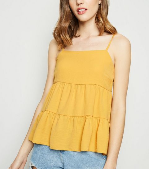 f26dad74db4 Yellow Tiered Cami · Yellow Tiered Cami ...