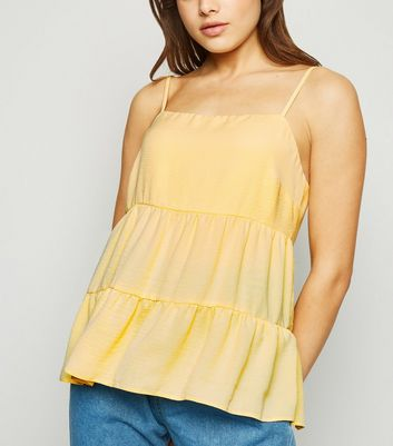 Pale Yellow Tiered Cami