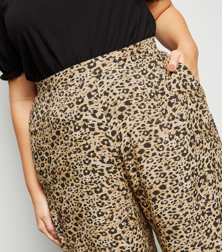 e33655c72be9 ... Curves Brown Leopard Print Crop Trousers. ×. ×. ×. Shop the look