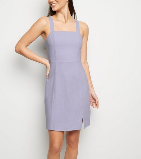 ef369f64c56f ... Lilac Linen Look Pinafore Dress ...