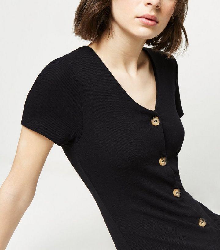 a449a9817a4 ... Black Jersey Button Up Midi Dress. ×. ×. ×. Shop the look