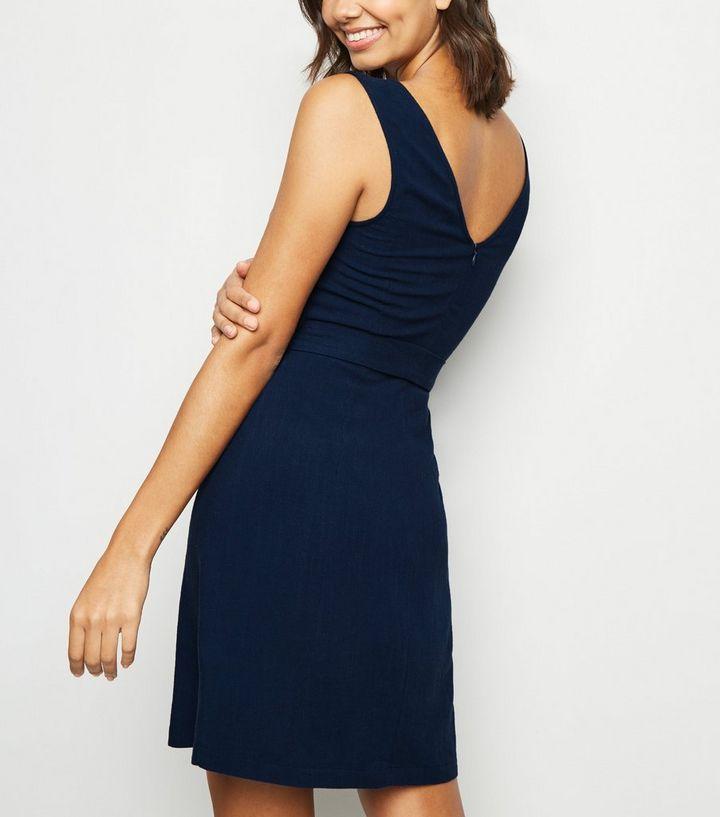 29d751d5218 ... Navy Linen Look Belted Pinafore Dress. ×. ×. ×. Shop the look
