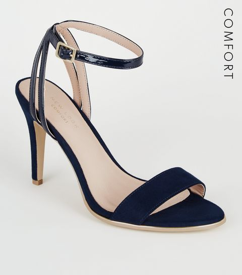 cd0bcb567 ... Navy Comfort Flex 2 Part Stiletto Heels ...