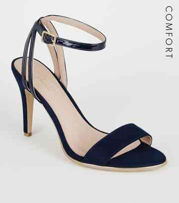 Navy Comfort Flex 2 Part Stiletto Heels