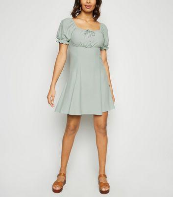 Light Green Milkmaid Tea Dress by New Look