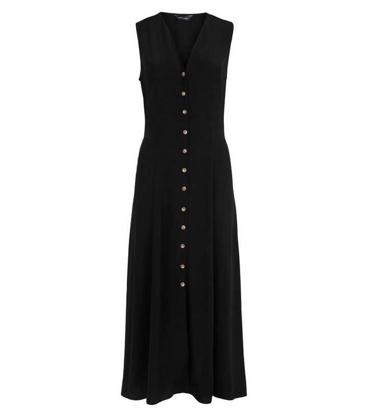 e9d3d75594d ... Black Tie Back Button Up Midi Dress. ×. ×. ×. Shop the look
