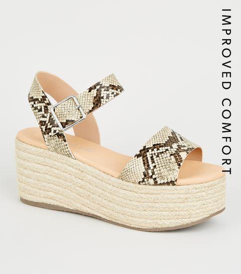 ec40dac5dad4a ... Stone Faux Snake Espadrille Flatform Sandals ...