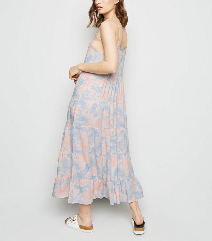 ac040efd96e93 ... Blue Tie Dye Tiered Hem Maxi Dress. ×. ×. ×. Shop the look