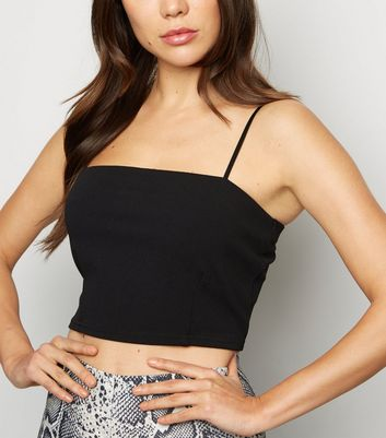 Cameo Rose Black Crop Top