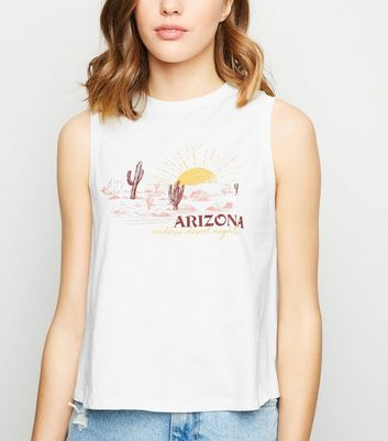 White Arizona Desert Sketch Vest