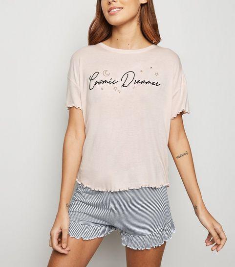 55d65c675a4 ... Pink Cosmic Dream Slogan Pyjama Set ...