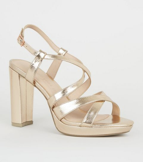 5e61bbdf9 Heeled Sandals | Barely There & Strappy Heeled Sandals | New Look