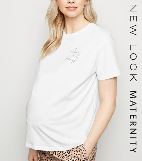 ... Maternity White Sweet Like Honey Slogan T-Shirt ... 83c80ab2b