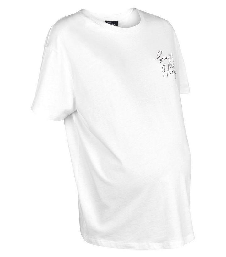 81ce06e1d75 Maternity White Sweet Like Honey Slogan T-Shirt