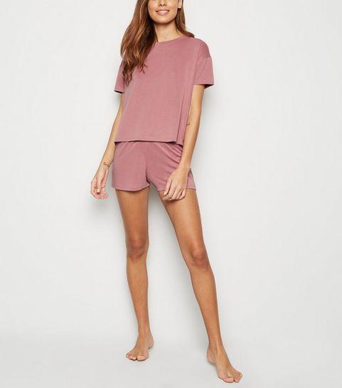 bed620ba9b1a ... Mid Pink Soft Touch Jersey Pyjama Set ...