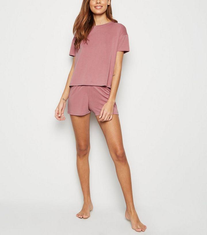 5971ceb40009 Mid Pink Soft Touch Jersey Pyjama Set