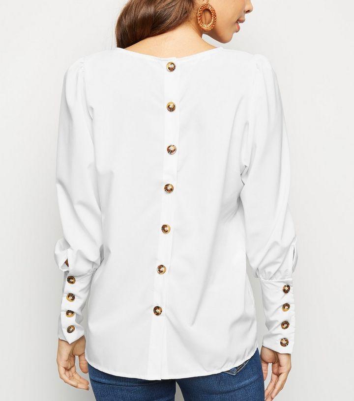 dernière sélection Promotion de ventes qualité Urban Bliss - Chemisier blanc à dos boutonné Ajouter à la Wishlist  Supprimer de la Wishlist