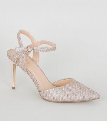 Rose Gold Glitter 2 Part Courts by New Look