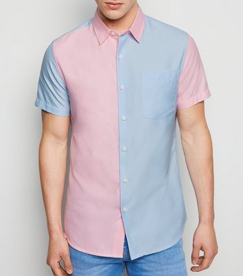 Chemise Oxford multicolore design color block