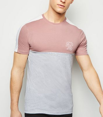 Mid Pink TW9 Embroidered Muscle Fit T-Shirt