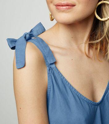 Cameo Rose Indigo Tie Shoulder Cami New Look