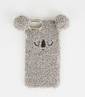 Grey Faux Fur Koala iPhone 6/6s/7/8 Case