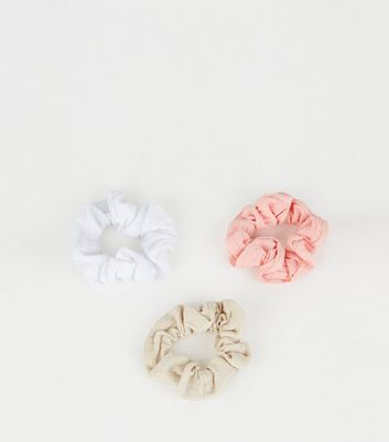 3 Pack Multicoloured Washed Scrunchies