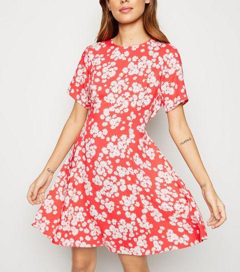 22596ba7c71 ... Pink Daisy Print Smock Dress ...