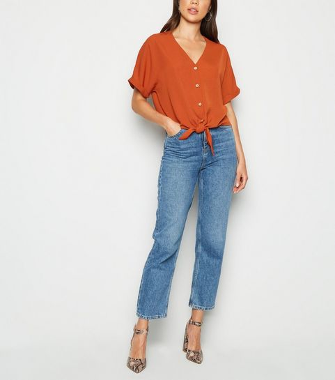 d8fa373dcc5a91 Button Tops | Button Up Tops & Button Front Tops | New Look