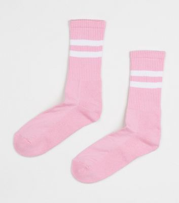 Pink Stripe Sports Socks