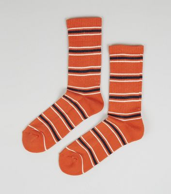 Orange Stripe Sports Socks