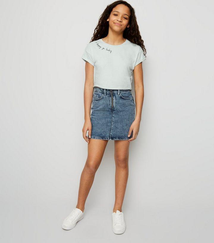 0703415a2 ... Girls Mint Happy Go Lucky Slogan T-Shirt. ×. ×. ×. Shop the look
