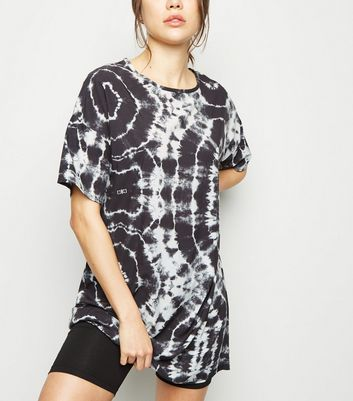 Black Tie Dye T-Shirt Dress