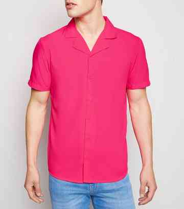 Bright Pink Neon Short Sleeve Shirt