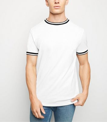 White Tipped Pique T-Shirt