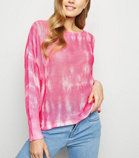 f9fbf1fc00 ... Cameo Rose Pink Tie Dye Fine Knit Jumper ...