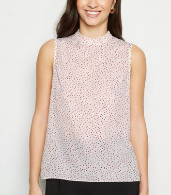 White Spot Sleeveless Top