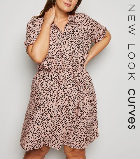 2879fdc094 ... Curves Pink Animal Print Dress ...