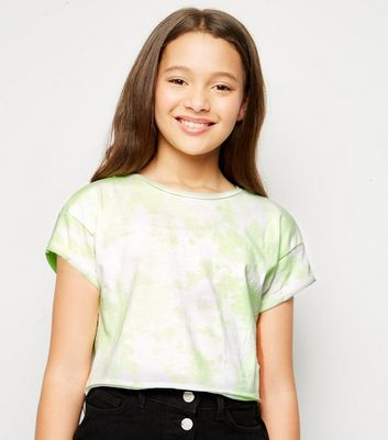 Girls Green Neon Tie Dye T Shirt by New Look