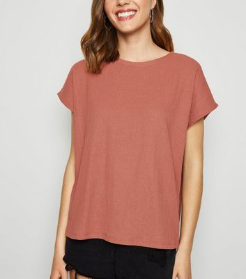 Rust Textured Boxy T-Shirt