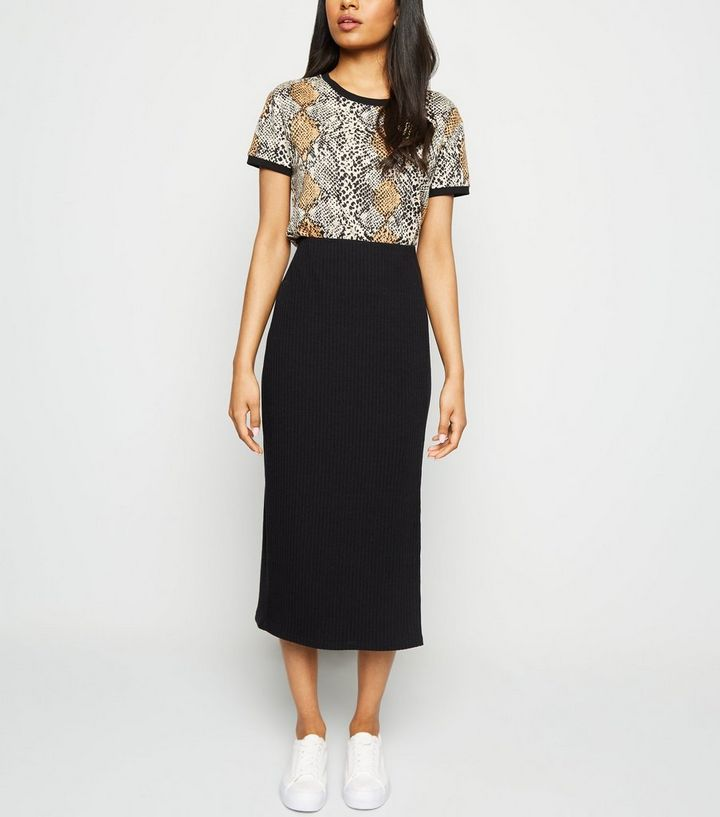 temperament shoes bright n colour new varieties Petite Black Ribbed Midi Skirt Add to Saved Items Remove from Saved Items