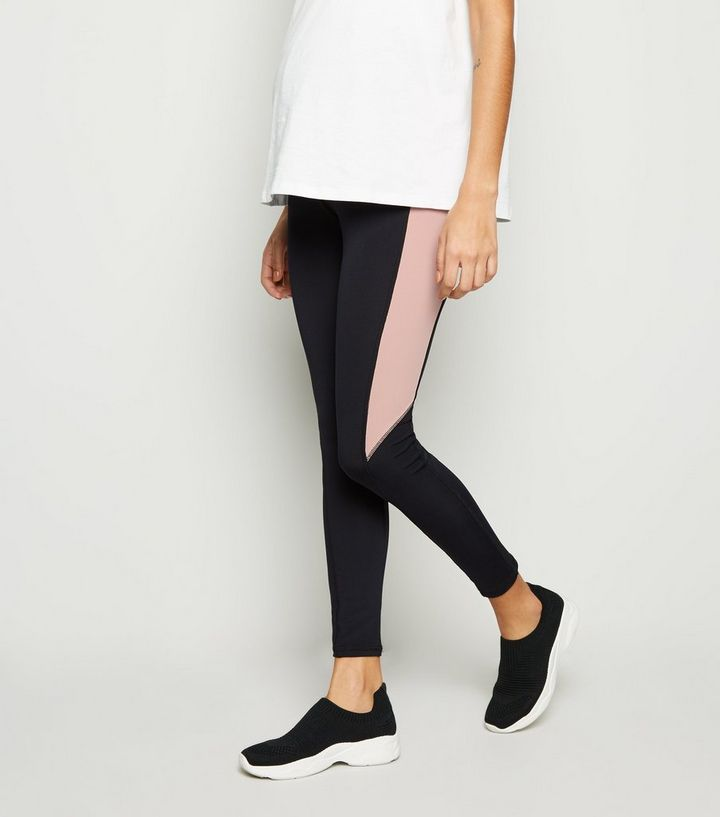 buy various colors attractive style Maternity Black Colour Block Sports Leggings Add to Saved Items Remove from  Saved Items