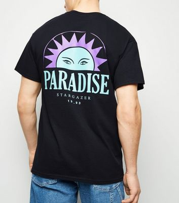Black Paradise Slogan T-Shirt