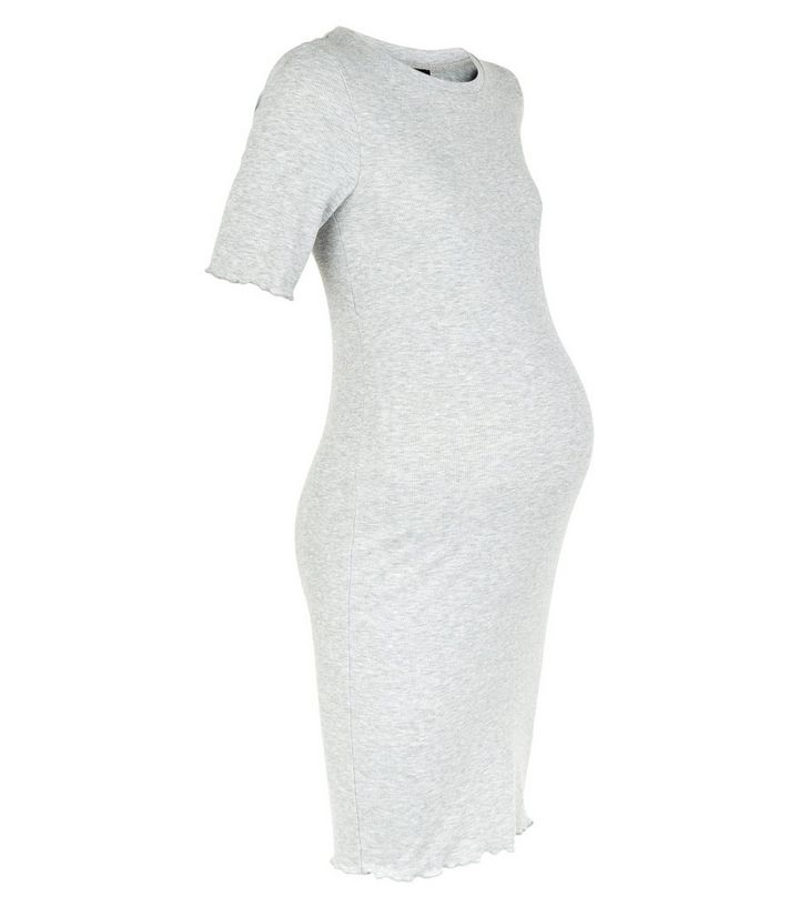7b8c951d4a5fb ... Maternity Grey Ribbed Midi Bodycon Dress. ×. ×. ×. Shop the look