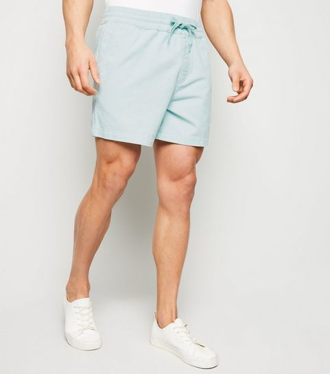 6ad5f77a71716d ... Mint Green Corduroy Pull On Shorts ...