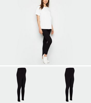 Maternity 2 Pack Black Leggings