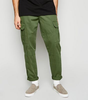 Khaki Slim Utility Trousers