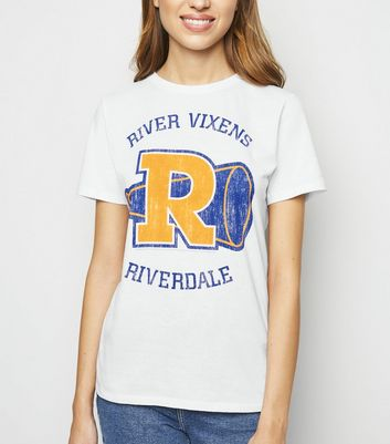 White Riverdale Vixens Slogan T-Shirt