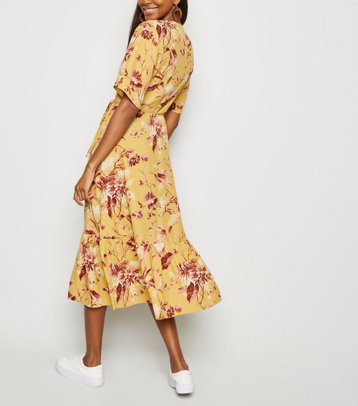 71f1a7e1a822 ... Yellow Floral Tiered Hem Midi Dress. ×. ×. ×. Shop the look